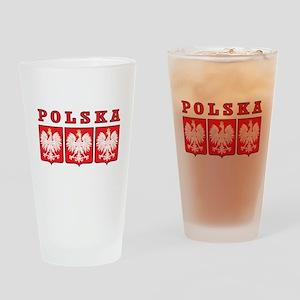 Polska Eagle Shields Drinking Glass