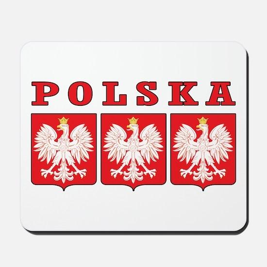 Polska Eagle Shields Mousepad