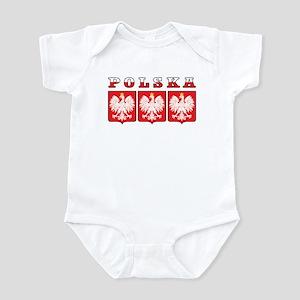 Polska Flag Eagle Shields Infant Bodysuit