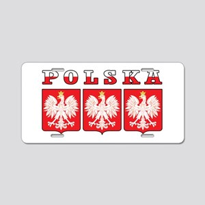 Polska Flag Eagle Shields Aluminum License Plate