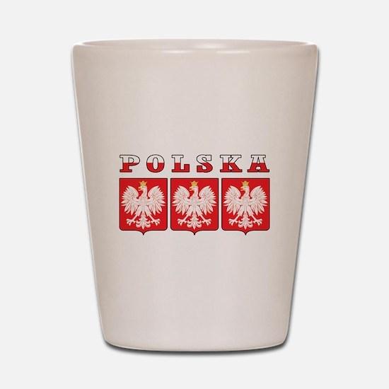Polska Flag Eagle Shields Shot Glass