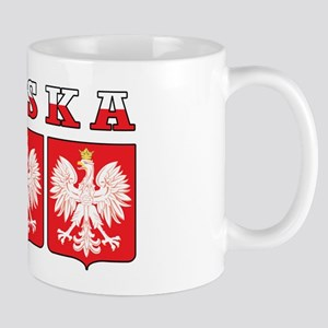Polska Flag Eagle Shields Mug