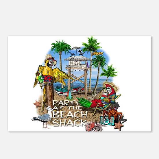 Parrots Beach Party Postcards (Package of 8)