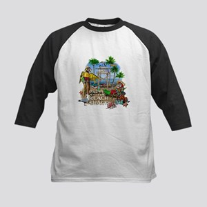 Parrots Beach Party Kids Baseball Jersey