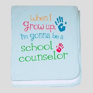 Kids Future School Counselor baby blanket