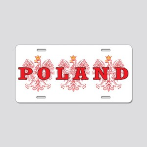 Poland Red Eagles Aluminum License Plate