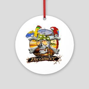 Pirate Parrots Round Ornament
