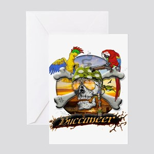 Pirate Parrots Greeting Card