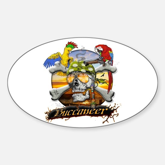Pirate Parrots Sticker (Oval)