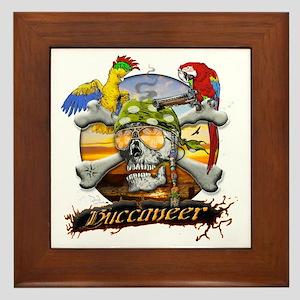 Pirate Parrots Framed Tile