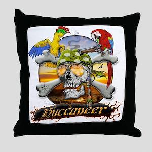 Pirate Parrots Throw Pillow