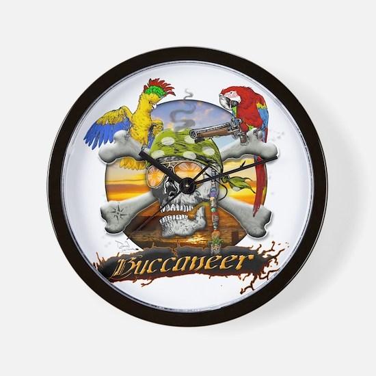 Pirate Parrots Wall Clock