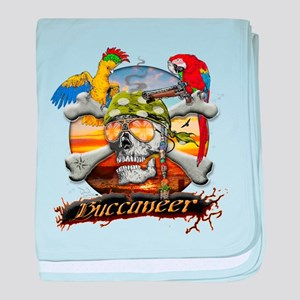Pirate Parrots baby blanket