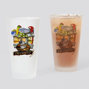 Pirate Parrots Drinking Glass