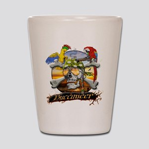 Pirate Parrots Shot Glass