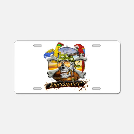 Pirate Parrots Aluminum License Plate