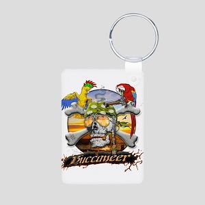 Pirate Parrots Aluminum Photo Keychain