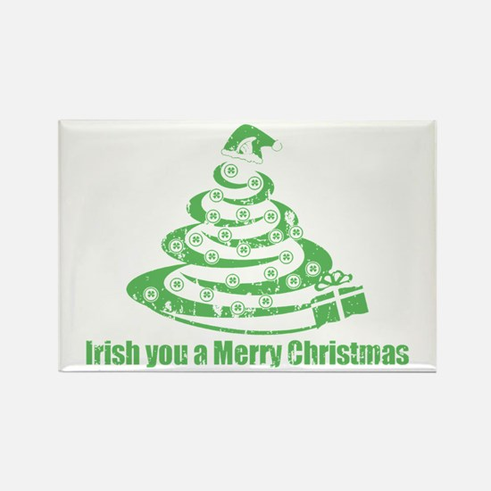 Irish you a Merry Christmas Rectangle Magnet