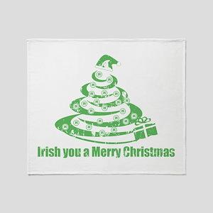 Irish you a Merry Christmas Throw Blanket