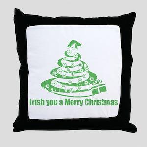 Irish you a Merry Christmas Throw Pillow