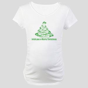 Irish you a Merry Christmas Maternity T-Shirt