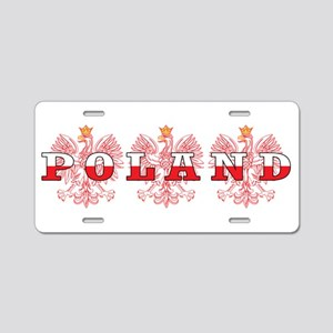 Poland Flag Red Eagles Aluminum License Plate