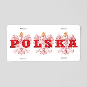 Polska Red Eagles Aluminum License Plate
