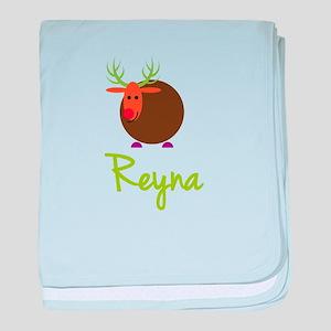 Reyna the Reindeer baby blanket