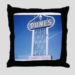 Las Vegas Dunes Hotel Throw Pillow