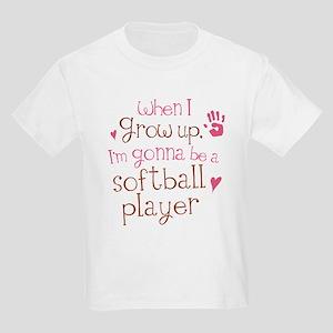 Kids Future Softball Player Kids Light T-Shirt