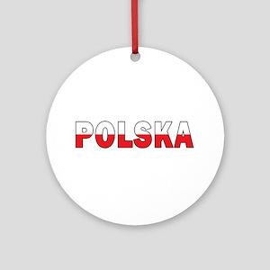 Polska Flag Ornament (Round)