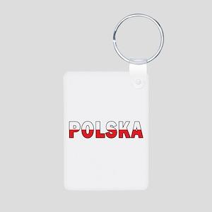 Polska Flag Aluminum Photo Keychain