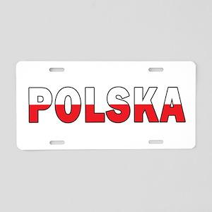 Polska Flag Aluminum License Plate