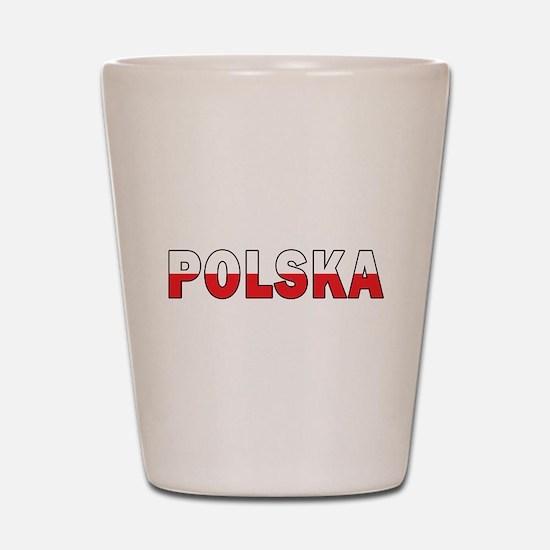 Polska Flag Shot Glass