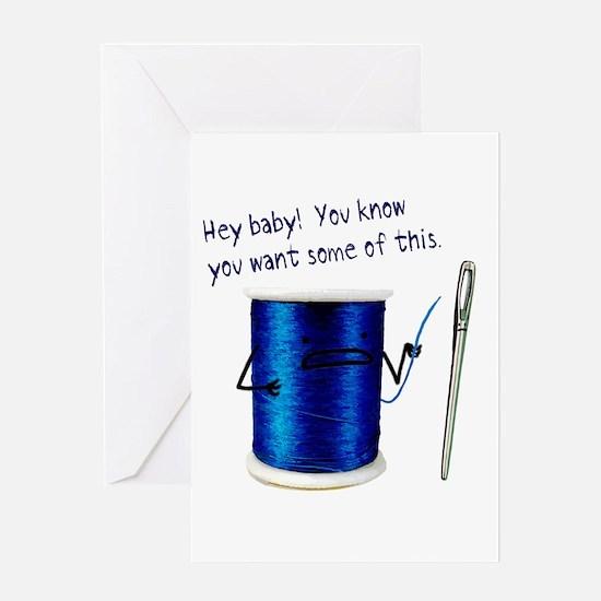 Hey baby! Greeting Card