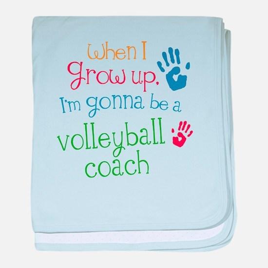 Kids Future Volleyball Coach baby blanket