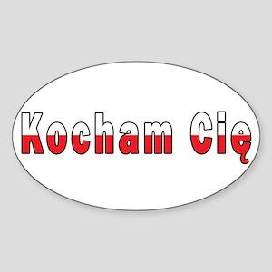 Kocham Cie - I Love You Sticker (Oval)