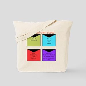 Star trek TOS shirt codes Tote Bag