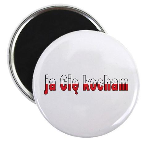 """ja cie kocham - I Love You 2.25"""" Magnet (10 pack)"""
