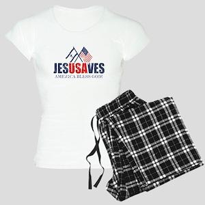 Jesus Saves Women's Light Pajamas