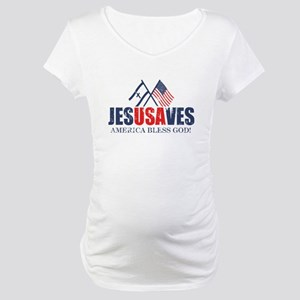 Jesus Saves Maternity T-Shirt