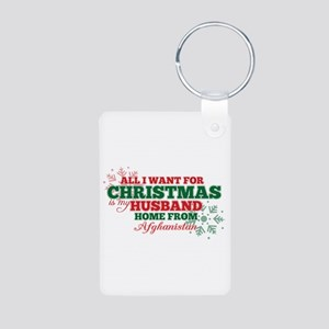 Xmas HUSBAND - Aluminum Photo Keychain