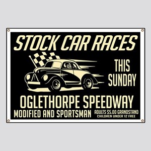 Stock Car Races Banner