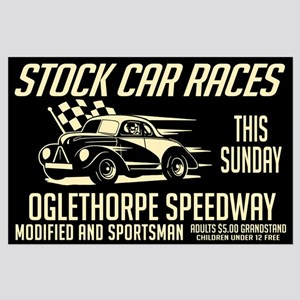 Stock Car Races Large Poster
