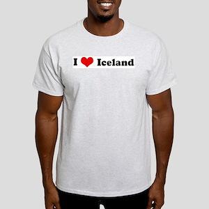 I Love Iceland Ash Grey T-Shirt