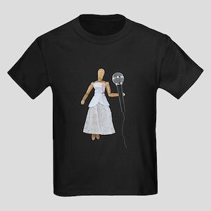 Woman Using Audio Microphone Kids Dark T-Shirt
