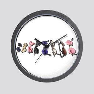 Variety of Colorful Glasses Wall Clock
