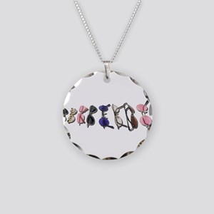 Variety of Colorful Glasses Necklace Circle Charm