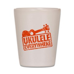 Ukulele Everywhere Shot Glass