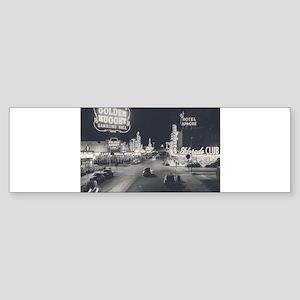 Vintage Downtown Las Vegas Sticker (Bumper)